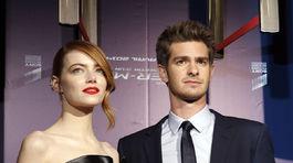 Andrew Garfield  jeho priateľka Emma Stone