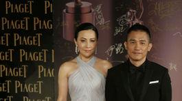 Herečka Carina Lau s manželom Tonym Leungom.