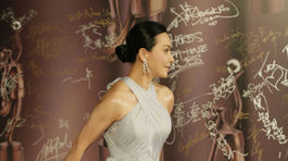 Hviezda Carina Lau na červenom koberci.