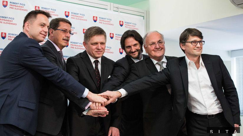 Vedenie Smeru, Kažimír, Paška, Fico, Kaliňák,...