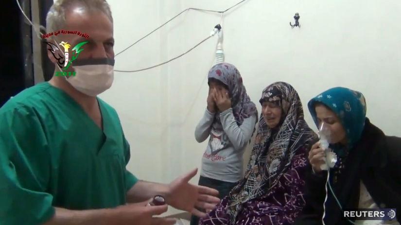 Sýria, chemické zbrane, lekár, plyn, chlór