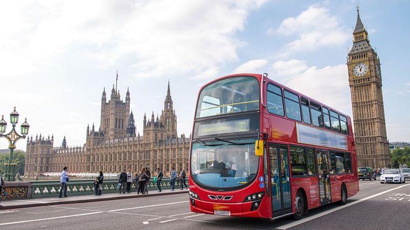 Londýn, Big Ben, double decker, autorbus,
