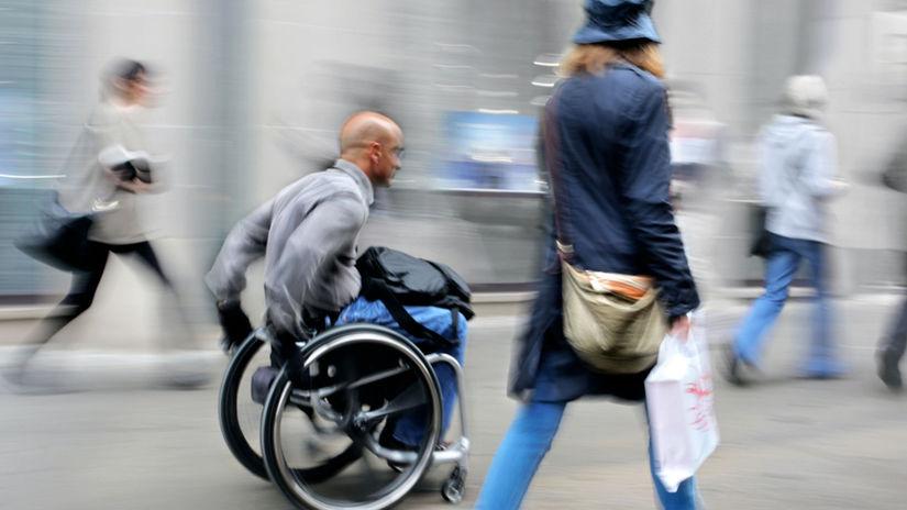 invalid, invalidný, postihnutý, vozíček,...