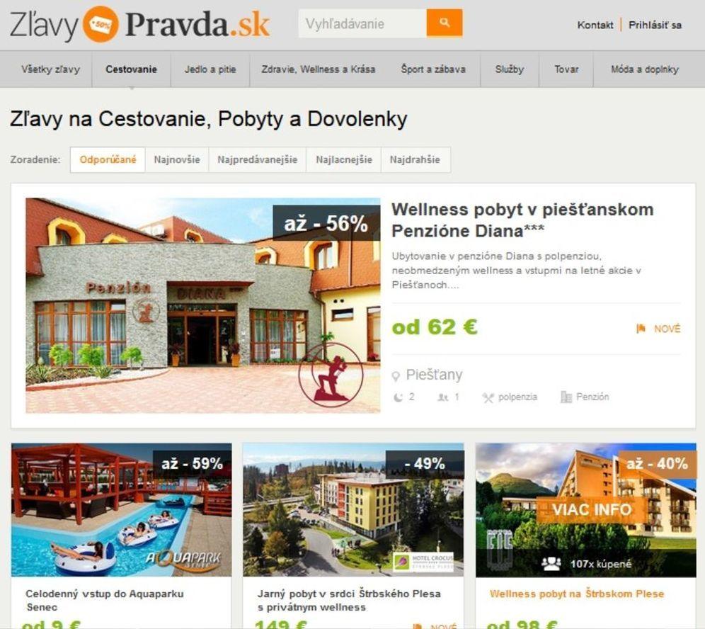 Zľavové portály využívajú hostia aj hotely - Cestovný ruch ... 0e692c56def