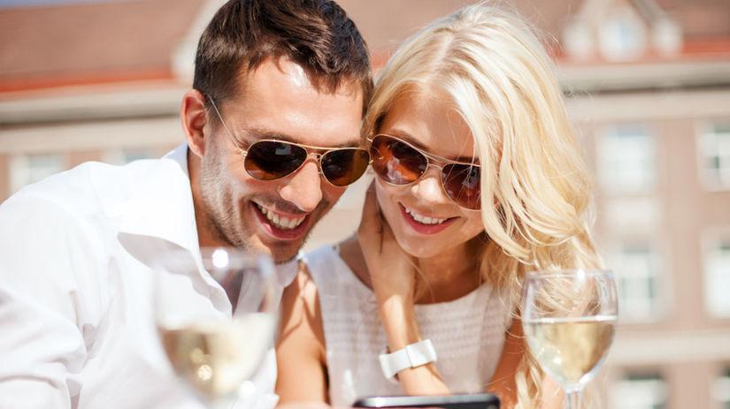 smartfón, partneri, pár, láska, zoznámenie