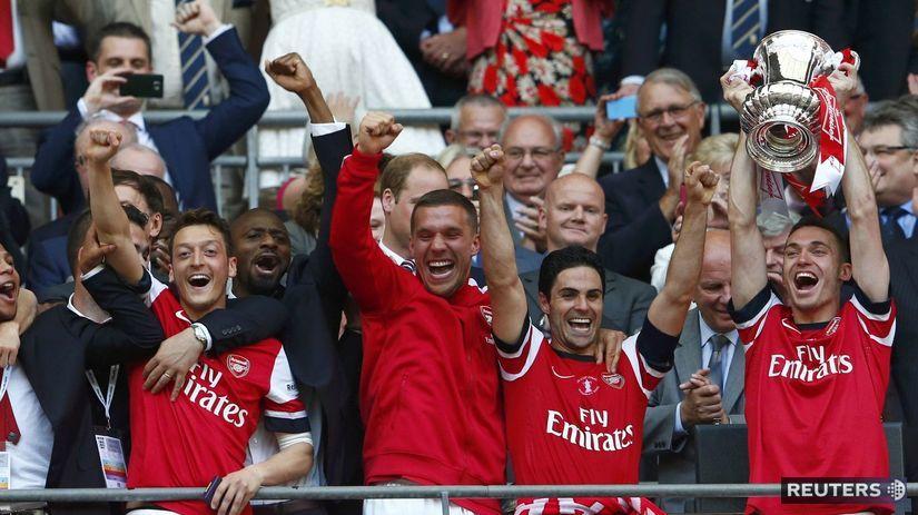 Arsenal, radosť, FA Cup