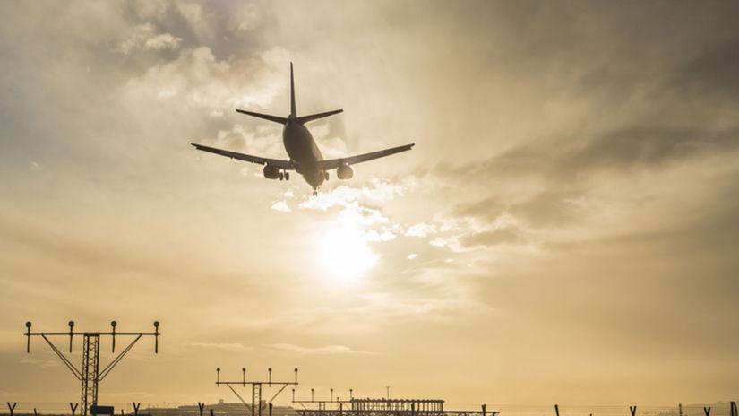 lietadlo, letisko, hluk