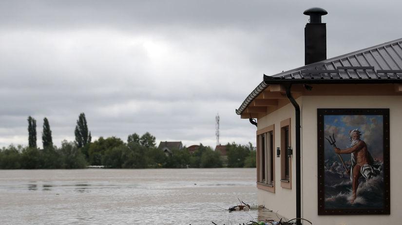 Srbsko, povodne, povodeň