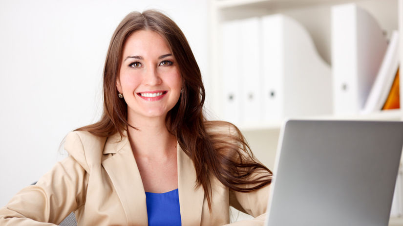 pracujúca žena, kancelária