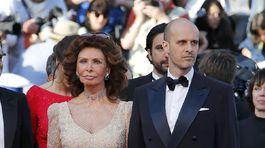 Herečka Sophia Loren a jej syn Edoardo Ponti.