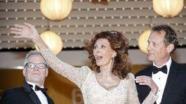 Herečka Sophie Loren máva fotografom.