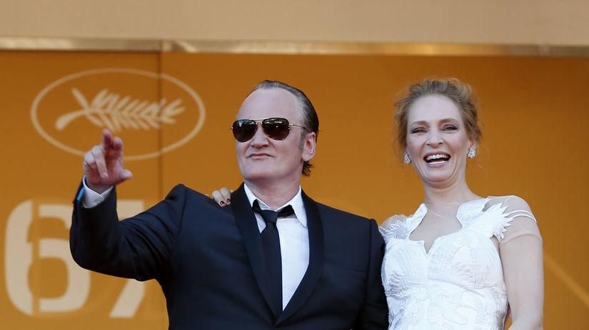 Quentin Tarantino a herečka Uma Thurman