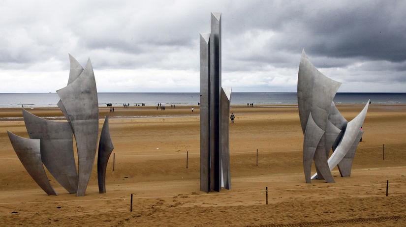 omaha, pláž, normandia, 1944, pomník