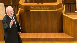 Prezident, Ivan Gašparovič, parlament, prejav, rozlúčka 17