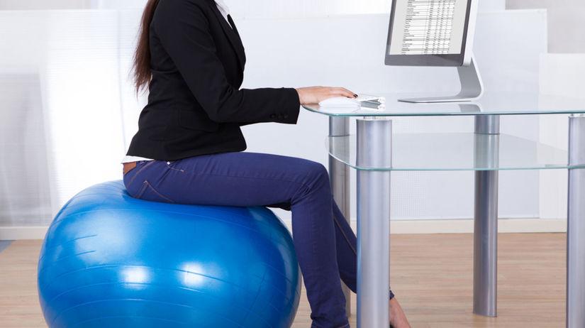 fitlopta, sedenie, kancelária