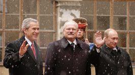 Gašparovič, Putin, Bush
