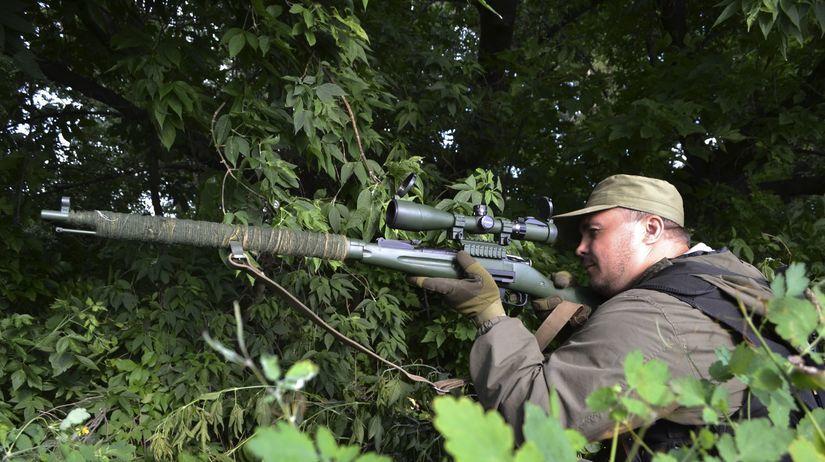 Ukrajina, Slaviansk,  vojak, strelec, zbraň