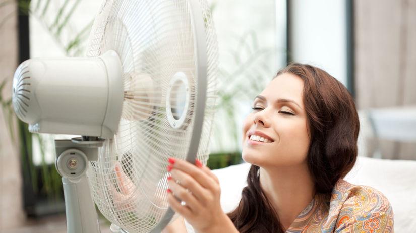 ventilátor, horúčava - teplo