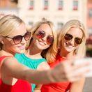 selfie, ženy, mesto, kamarátky, dovolenka, výlet