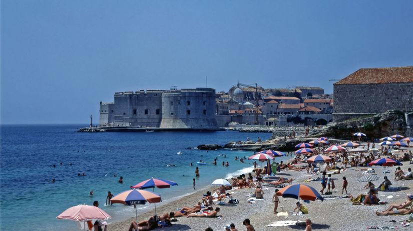 chorvátsko, dubrovník, pláž