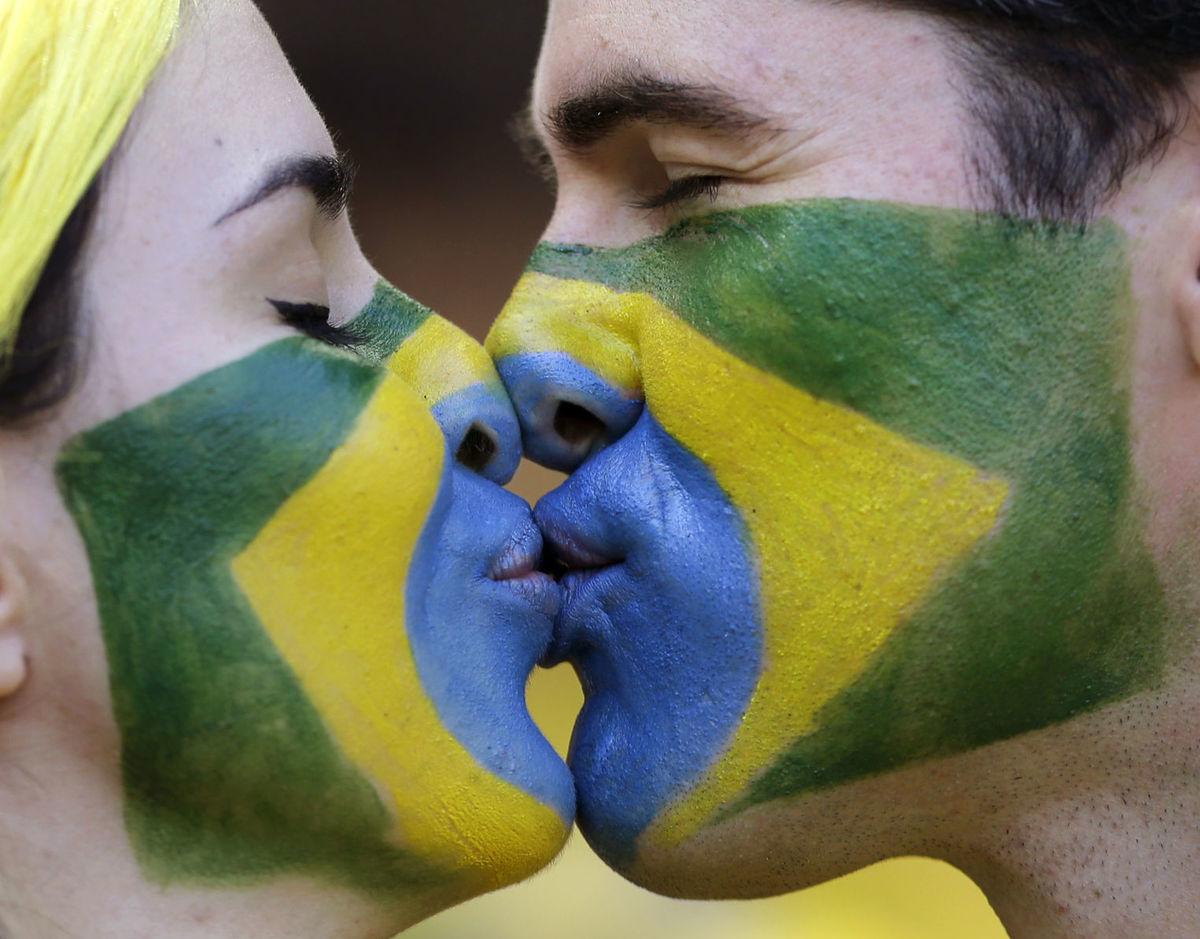 Brazília, fanúšik, bozk