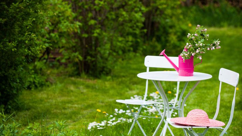 posedenie, stoličky, záhrada