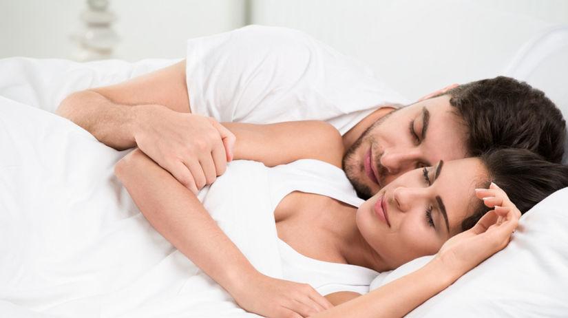 spánok - poloha - muž a žena