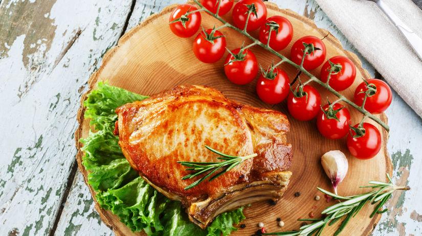 mäso, zelenina