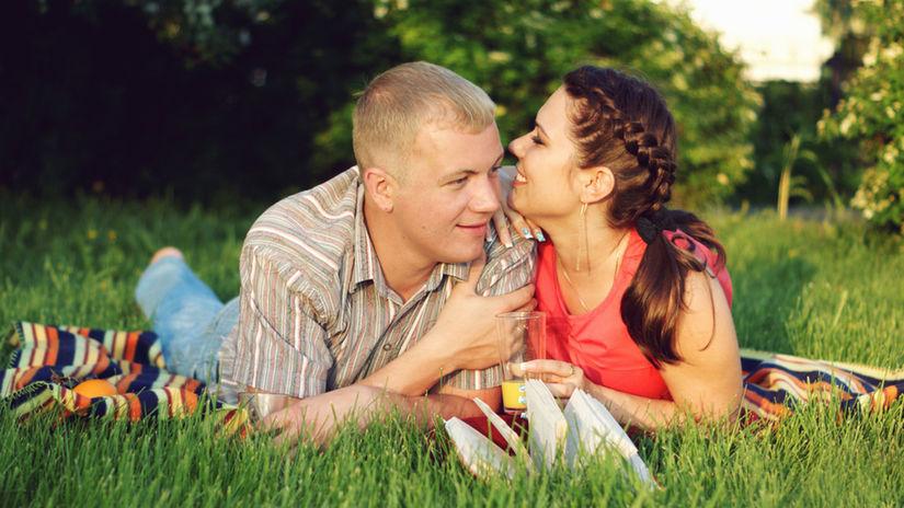 láska, vzťah, piknik