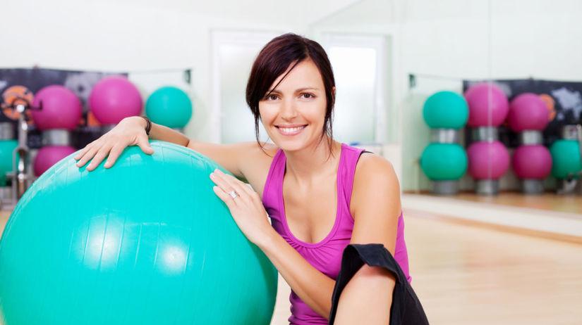fitlopta, žena, cvičenie, fitness