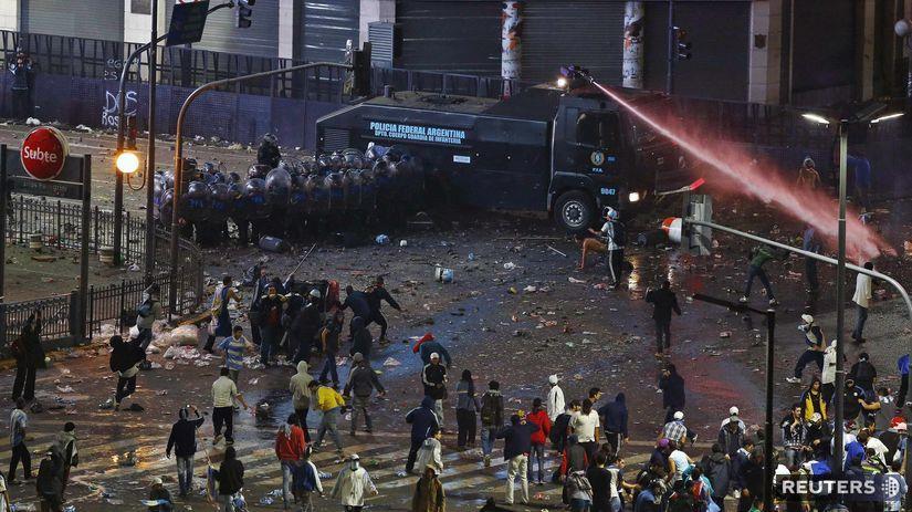 Buenos Aires, fanúšikovia, MS, nepokoje