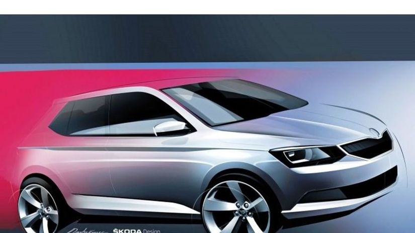 Škoda Fabia 2015  - skica