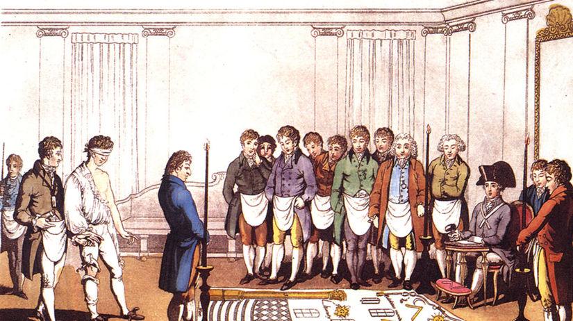 iniciačný rituál, anglická rytina,
