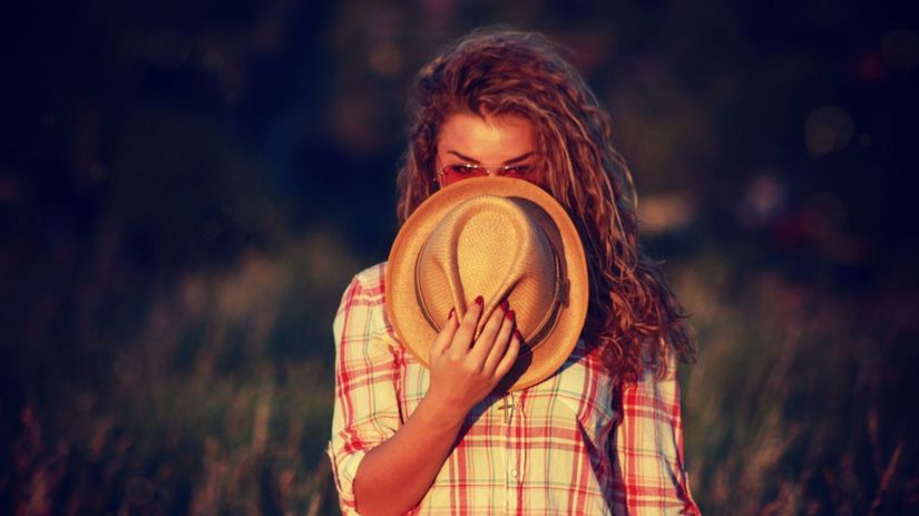 dovolenka, dievča, leto, klobúk