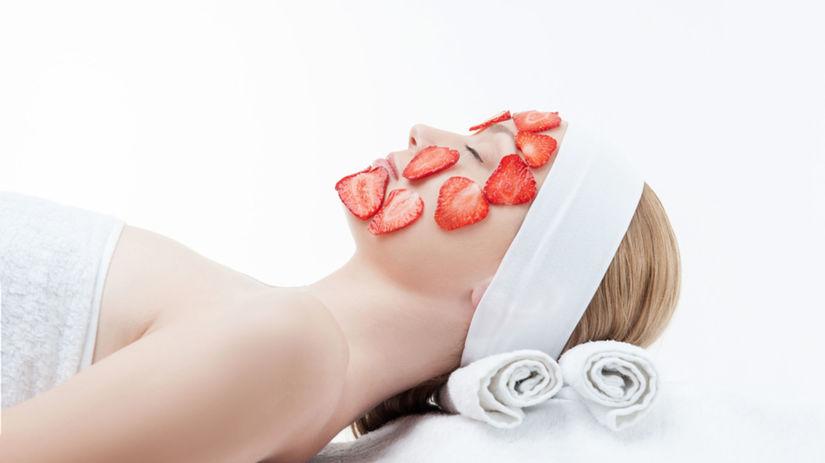 jahody, pleťová maska, kozmetika