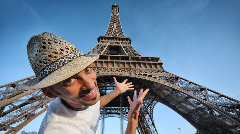 paríž, turista, dovolenka, eiffelova veža