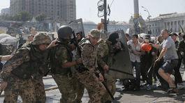 Kyjev, Ukrajina, Majdan, Námestie mieru, protesty, demonštrácia, proruskí separatisti