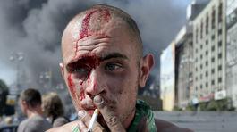 Kyjev, Ukrajina, Majdan, Námestie nezávislosti, protesty, demonštrácia, proruskí separatisti