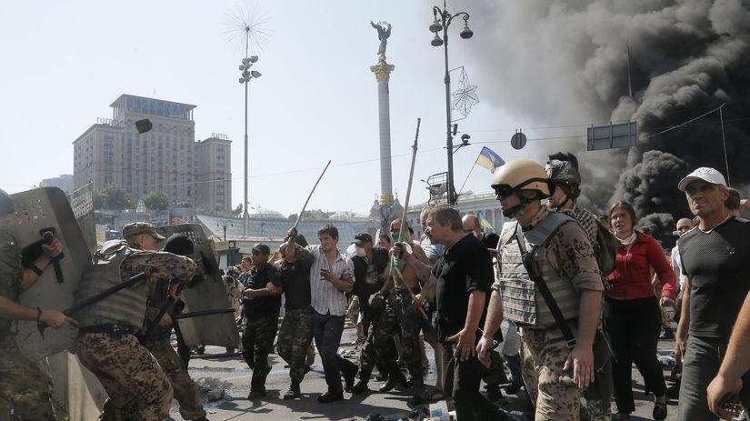 Ukrajina, Kyjev, Majdan