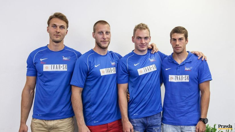 štvorkajak, Viktor Demin, Gábor Jakubík, Matej...