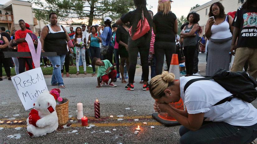 USA, polícia, St. Louis, černoch
