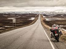Nórsko, cesta, motorka
