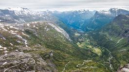 Nórsko, pohľad na Geirangerfjord