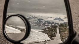 Nórsko, zrkadlo motorky