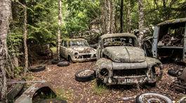 Švédsko, cintorín starých áut