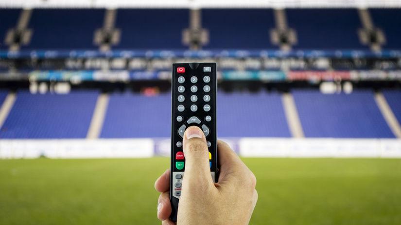 televízor, futbal, ovládač, tv