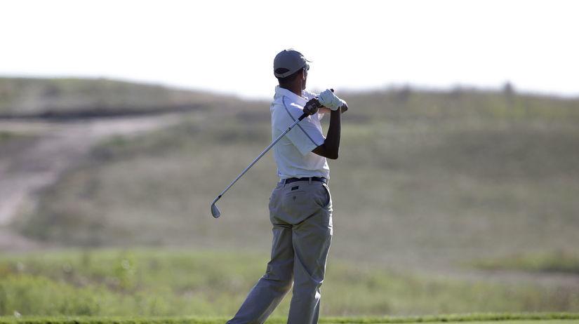 Barack Obama, dovolenka, golf