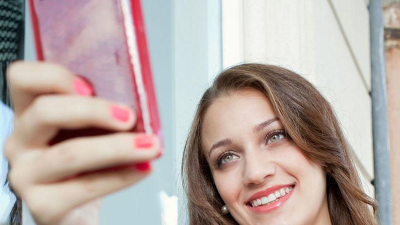 selfie, autoportrét, mobil, smartfón