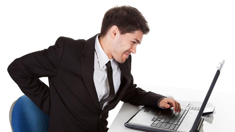 sedenie, chrbát, chrbtica, práca, počítač,...
