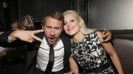 Herec Matthias Schoenaerts a jeho kolegyňa Noomi Rapace na párty po premiére filmu The Drop.